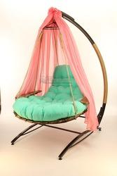 Садовые качели для двоих,  раскладывающиеся подвесное кресло.