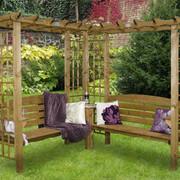Скамейка деревянная угловая